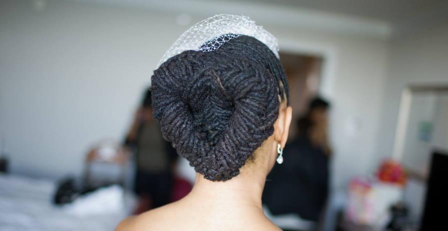 dreads on wedding day
